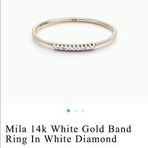 Kendra Scott 14 k diamond ring size 7